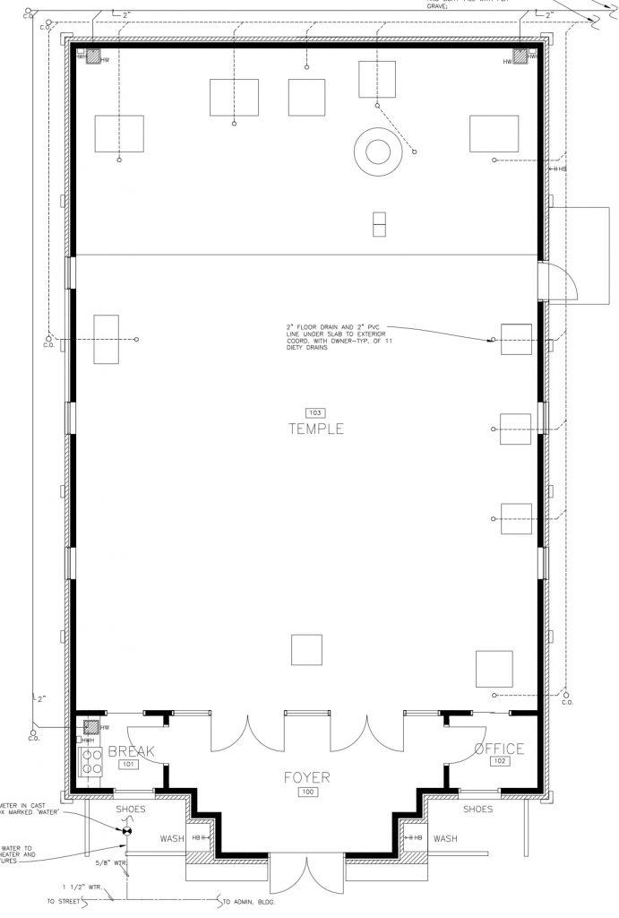 Temple Construction Update - OM TAT SAT ITI
